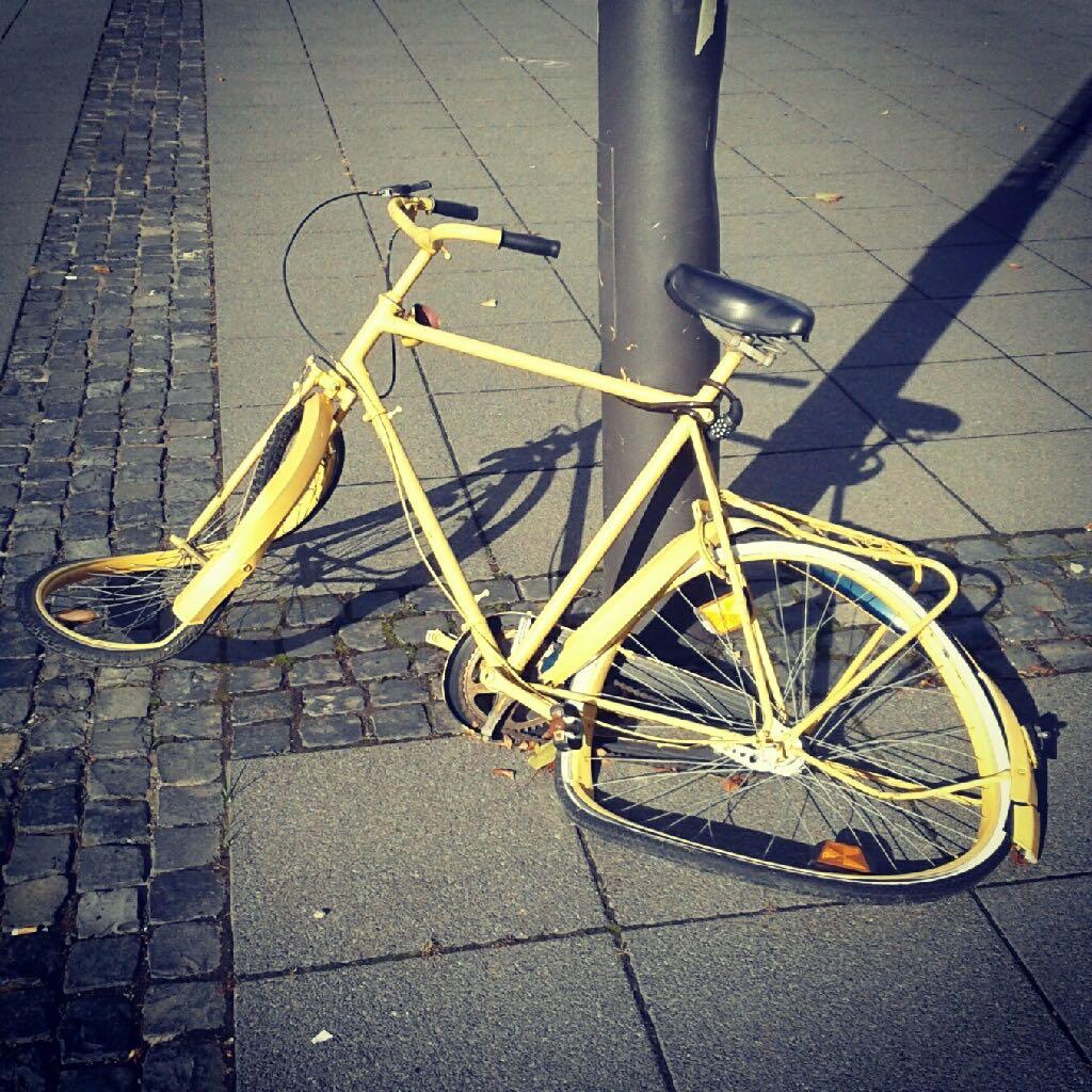 Dalí hat hier sein Rad abgestellt